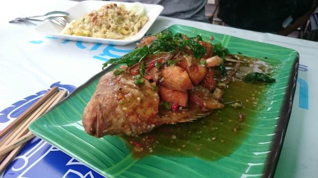 Pescado, una delicatessen tailandesa.